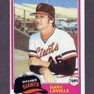 1981 Topps Baseball #588 Gary Lavelle - San Francisco Giants