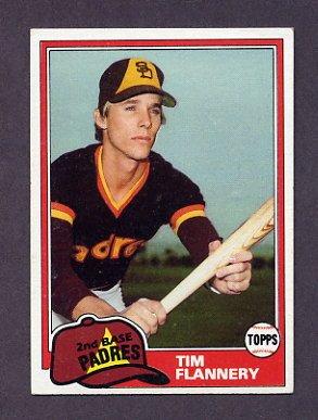 1981 Topps Baseball #579 Tim Flannery - San Diego Padres