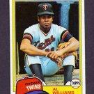 1981 Topps Baseball #569 Al Williams RC - Minnesota Twins