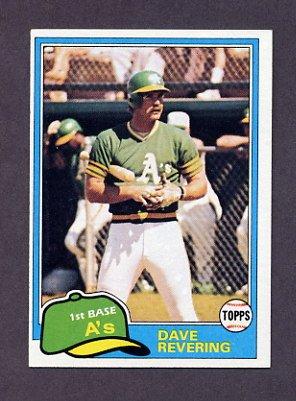 1981 Topps Baseball #568 Dave Revering - Oakland A's