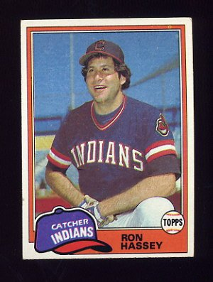 1981 Topps Baseball #564 Ron Hassey - Cleveland Indians Ex