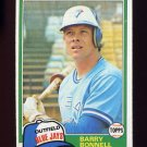 1981 Topps Baseball #558 Barry Bonnell - Toronto Blue Jays