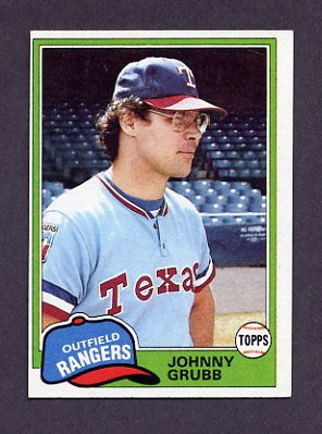1981 Topps Baseball #545 Johnny Grubb - Texas Rangers ExMt