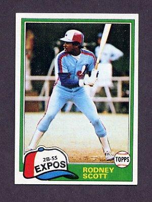1981 Topps Baseball #539 Rodney Scott - Montreal Expos NM-M