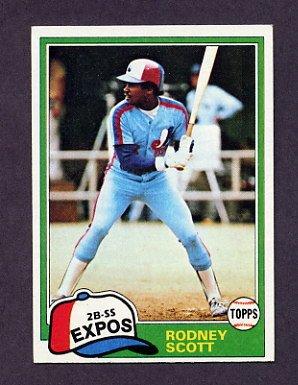 1981 Topps Baseball #539 Rodney Scott - Montreal Expos ExMt
