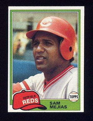 1981 Topps Baseball #521 Sam Mejias - Cincinnati Reds