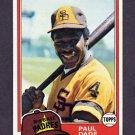 1981 Topps Baseball #496 Paul Dade - San Diego Padres
