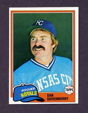 1981 Topps Baseball #493 Dan Quisenberry - Kansas City Royals