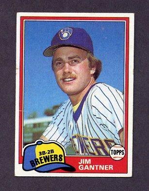 1981 Topps Baseball #482 Jim Gantner - Milwaukee Brewers