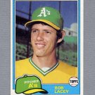 1981 Topps Baseball #481 Bob Lacey - Oakland A's ExMt