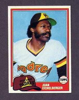 1981 Topps Baseball #478 Juan Eichelberger RC - San Diego Padres NM-M