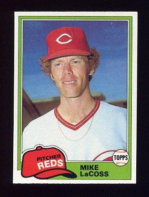 1981 Topps Baseball #474 Mike LaCoss - Cincinnati Reds