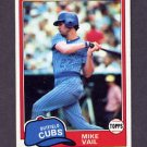 1981 Topps Baseball #471 Mike Vail - Chicago Cubs