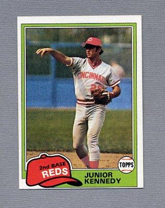 1981 Topps Baseball #447 Junior Kennedy - Cincinnati Reds ExMt