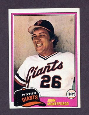 1981 Topps Baseball #438 John Montefusco - San Francisco Giants ExMt