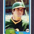 1981 Topps Baseball #437 Mike Heath - Oakland A's NM-M