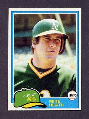 1981 Topps Baseball #437 Mike Heath - Oakland A's NM-M