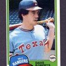 1981 Topps Baseball #431 Dave Roberts - Texas Rangers ExMt