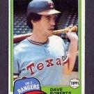 1981 Topps Baseball #431 Dave Roberts - Texas Rangers Ex