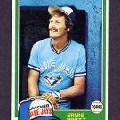 1981 Topps Baseball #407 Ernie Whitt - Toronto Blue Jays