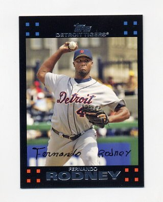 2007 Topps Baseball #448 Fernando Rodney - Detroit Tigers