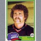 1981 Topps Baseball #391 Dave Lemanczyk - California Angels Ex