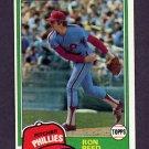 1981 Topps Baseball #376 Ron Reed - Philadelphia Phillies