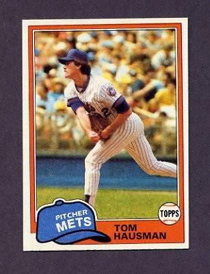 1981 Topps Baseball #359 Tom Hausman - New York Mets
