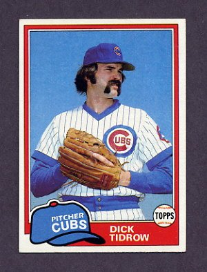 1981 Topps Baseball #352 Dick Tidrow - Chicago Cubs