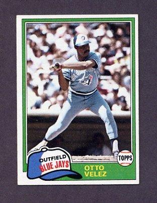 1981 Topps Baseball #351 Otto Velez - Toronto Blue Jays