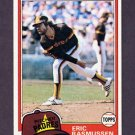 1981 Topps Baseball #342 Eric Rasmussen - San Diego Padres