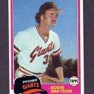 1981 Topps Baseball #336 Eddie Whitson - San Francisco Giants