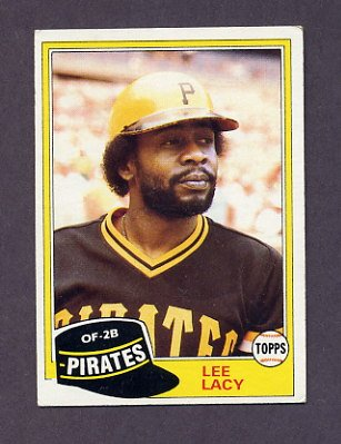 1981 Topps Baseball #332 Lee Lacy - Pittsburgh Pirates Ex