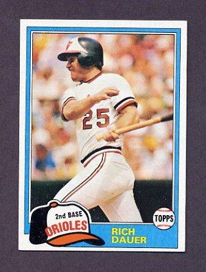 1981 Topps Baseball #314 Rich Dauer - Baltimore Orioles NM-M