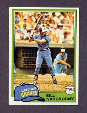 1981 Topps Baseball #296 Bill Nahorodny - Atlanta Braves ExMt