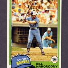 1981 Topps Baseball #296 Bill Nahorodny - Atlanta Braves ExMt