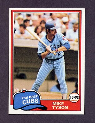 1981 Topps Baseball #294 Mike Tyson - Chicago Cubs NM-M