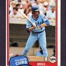 1981 Topps Baseball #294 Mike Tyson - Chicago Cubs Ex
