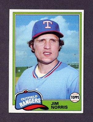 1981 Topps Baseball #264 Jim Norris - Texas Rangers
