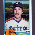 1981 Topps Baseball #253 Dave Bergman - Houston Astros Ex