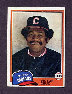 1981 Topps Baseball #252 Victor Cruz - Cleveland Indians Ex
