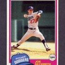 1981 Topps Baseball #231 Joe Beckwith - Los Angeles Dodgers