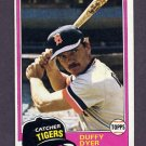1981 Topps Baseball #196 Duffy Dyer - Detroit Tigers