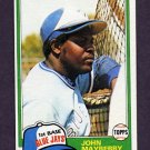1981 Topps Baseball #169 John Mayberry - Toronto Blue Jays