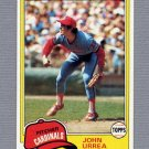 1981 Topps Baseball #152 John Urrea - St. Louis Cardinals NM-M