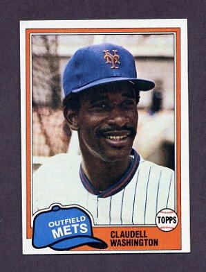 1981 Topps Baseball #151 Claudell Washington - New York Mets Ex