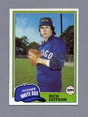 1981 Topps Baseball #138 Rich Dotson RC - Chicago White Sox NM-M