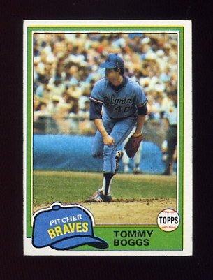 1981 Topps Baseball #132 Tommy Boggs - Atlanta Braves Ex