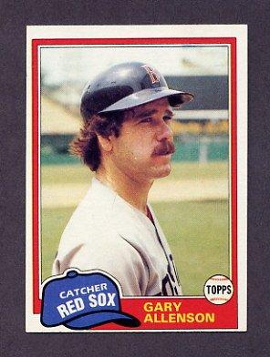 1981 Topps Baseball #128 Gary Allenson - Boston Red Sox ExMt