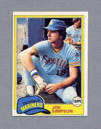 1981 Topps Baseball #116 Joe Simpson - Seattle Mariners